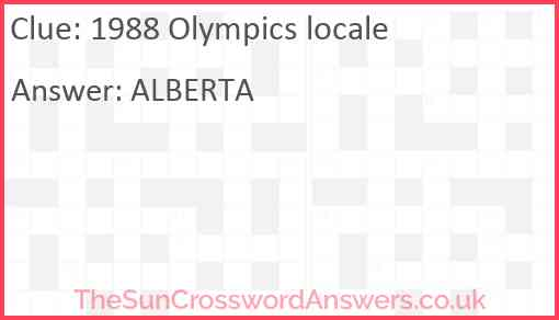 1988 Olympics locale Answer
