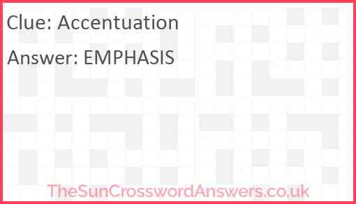 Accentuation Answer