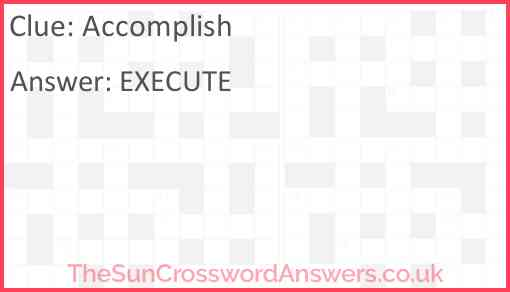 Accomplish Answer