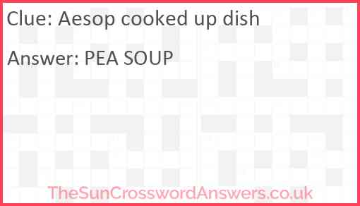 Aesop cooked up dish Answer