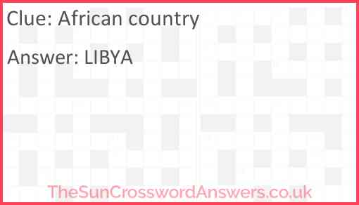 African country Answer