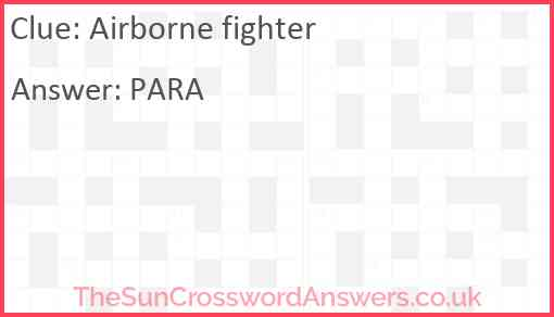 Airborne fighter Answer