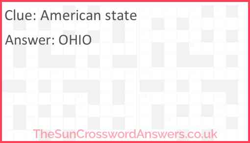 American state Answer