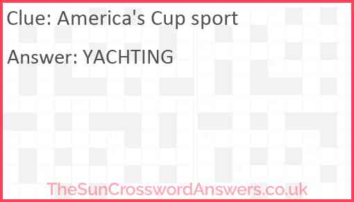 America's Cup sport Answer
