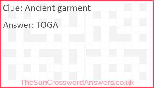 Ancient garment Answer
