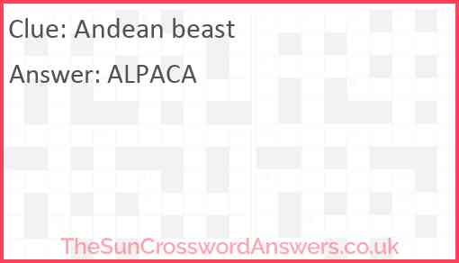 Andean beast Answer