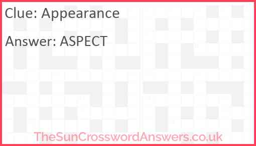 Appearance Answer