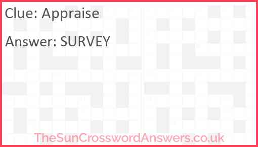 Appraise Answer