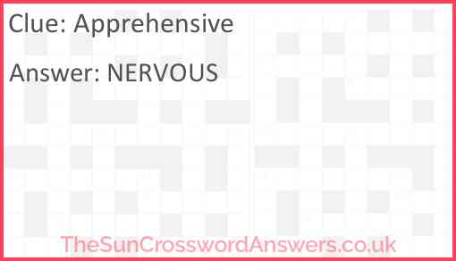 Apprehensive Answer