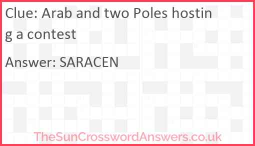 Arab and two Poles hosting a contest Answer