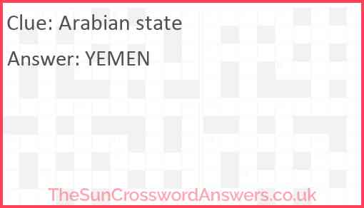 Arabian state Answer