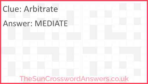 Arbitrate Answer
