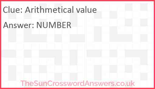 Arithmetical value Answer
