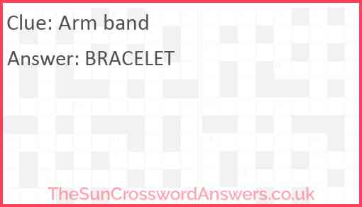 Arm band Answer