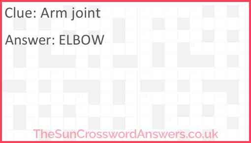 Arm joint Answer