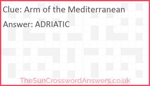 Arm of the Mediterranean Answer