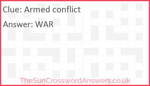Armed conflict Answer