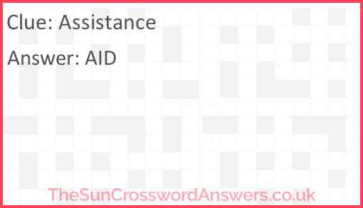 Assistance Answer