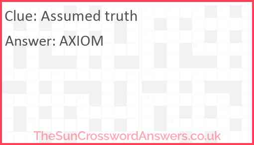 Assumed truth Answer