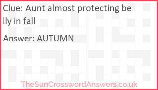 Aunt almost protecting belly in fall Answer