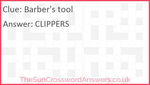 Barber's tool Answer
