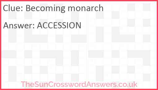 Becoming monarch Answer