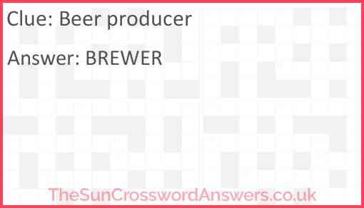 Beer producer Answer