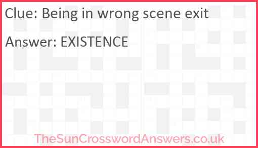 Being in wrong scene exit Answer