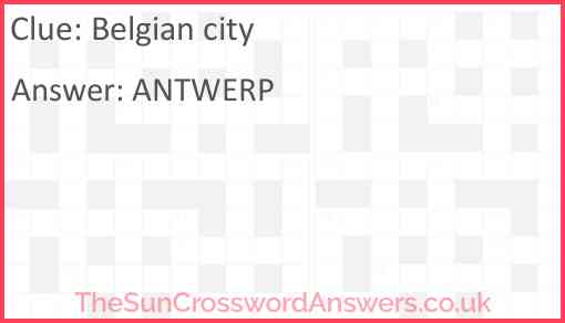 Belgian city Answer