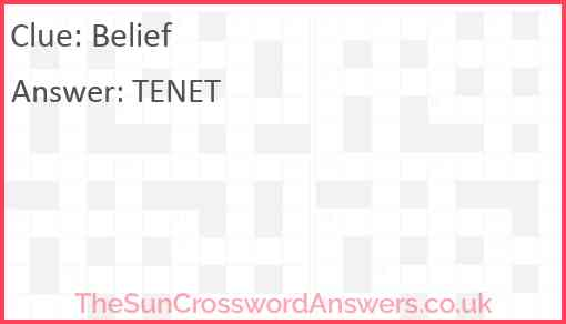 Belief Answer