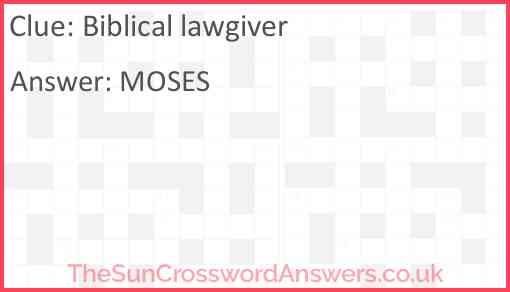 Biblical lawgiver Answer