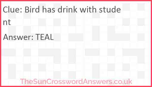 Bird has drink with student Answer
