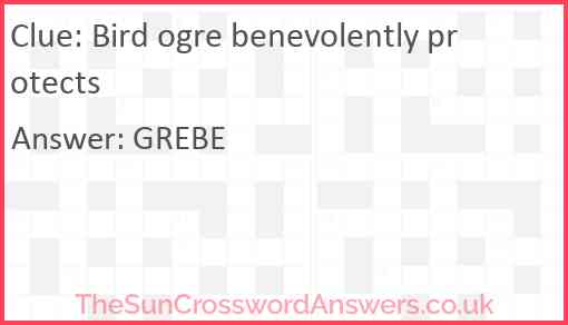 Bird ogre benevolently protects Answer