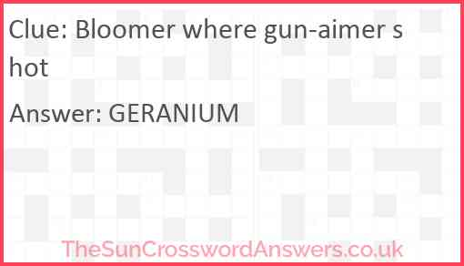 Bloomer where gun-aimer shot Answer
