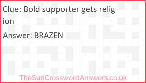 Bold supporter gets religion Answer