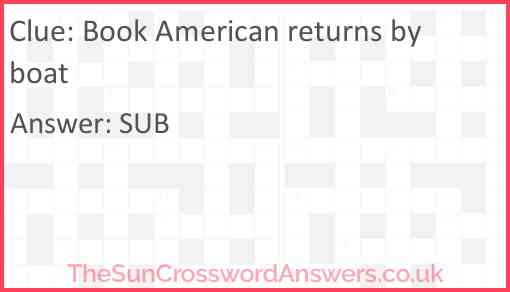 Book American returns by boat Answer