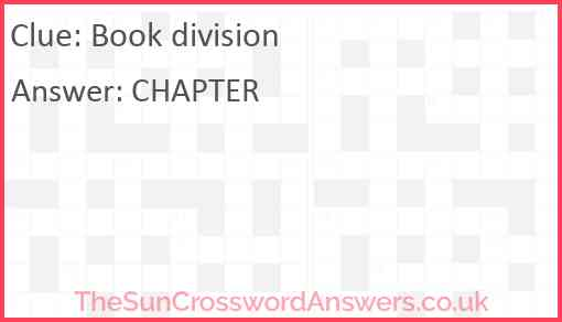Book division Answer