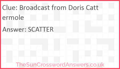 Broadcast from Doris Cattermole Answer