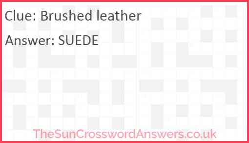 Brushed leather Answer