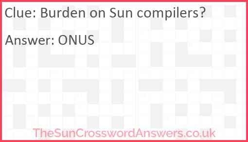 Burden on Sun compilers? Answer
