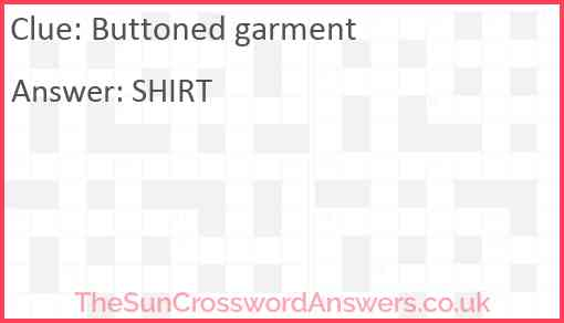 Buttoned garment Answer