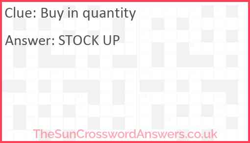 Buy in quantity Answer