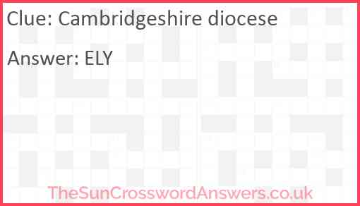Cambridgeshire diocese Answer