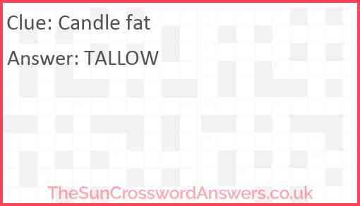 Candle fat Answer