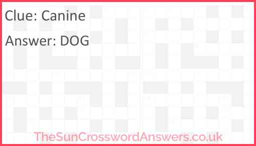 Canine Answer