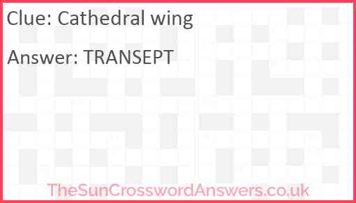 Cathedral wing Answer