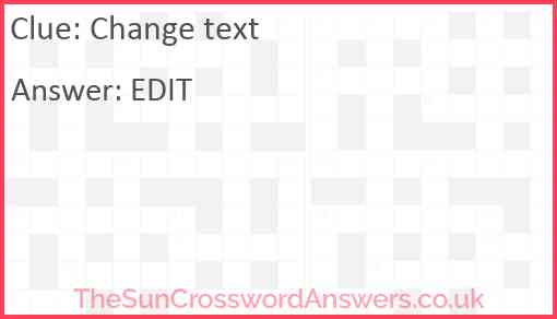 Change text Answer