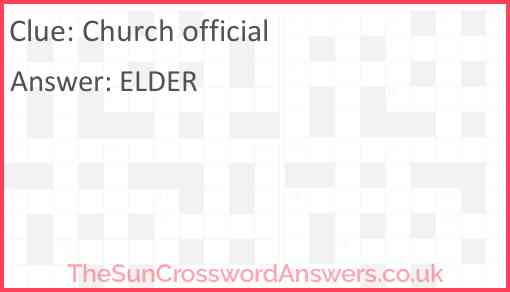 Church official Answer