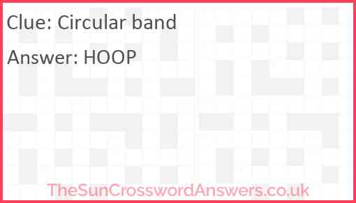 Circular band Answer
