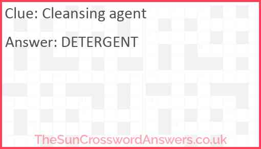 Cleansing agent Answer